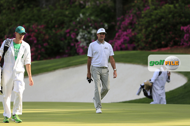 Bubba Watson (USA) on the 13th green during the 1st round at the The Masters , Augusta National, Augusta, Georgia, USA. 11/04/2019.<br /> Picture Fran Caffrey / Golffile.ie<br /> <br /> All photo usage must carry mandatory copyright credit (© Golffile   Fran Caffrey)