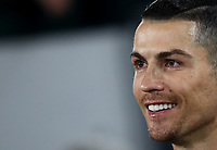 Calcio, Coppa Italia round 8 : Juventus - AS Roma, Turin, Allianz Stadium, January 22, 2020.<br /> Juventus' Cristiano Ronaldo smiles prior to the Italian Cup football match between Juventus and Roma at the Allianz stadium in Turin, January 22, 2020.<br /> UPDATE IMAGES PRESS/Isabella Bonotto