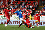 05.08.18 Aberdeen v Rangers: Josh Windass tackled by Andrew Considine