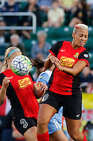 Rochester, NY - Friday July 01, 2016: Western New York Flash midfielder Lianne Sanderson (10), Western New York Flash midfielder Makenzy Doniak (3) during a regular season National Women's Soccer League (NWSL) match between the Western New York Flash and the Chicago Red Stars at Rochester Rhinos Stadium.