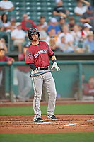 Ronnie Freeman (22) of the Sacramento River Cats at bat against the Salt Lake Bees at Smith's Ballpark on July 18, 2019 in Salt Lake City, Utah. The Bees defeated the River Cats 9-6. (Stephen Smith/Four Seam Images)