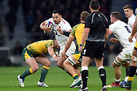 Ben Te'o of England takes on the Australia defence. Quilter International match between England and Australia on November 24, 2018 at Twickenham Stadium in London, England. Photo by: Patrick Khachfe / Onside Images