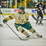 16 November 2013: University of Vermont Catamount Forward Tom Forgione, a Freshman from South Burlington, VT, in action against the Providence College Friars at Gutterson Fieldhouse in Burlington, Vermont. The Friars shut out the Catamounts to sweep the 2-game weekend Hockey East Series. Mandatory Credit: Ed Wolfstein Photo *** RAW (NEF) Image File Available ***