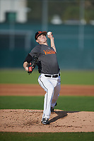 Kasey Baumgart (62), from Baltimore, Maryland, while playing for the Giants during the Baseball Factory Pirate City Christmas Camp & Tournament on December 28, 2017 at Pirate City in Bradenton, Florida.  (Mike Janes/Four Seam Images)