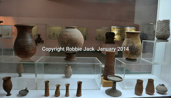 Ceramics from the Indus Valley, Harappan Civilization 2700-2000 BC. The National Museum in New Delhi, India.