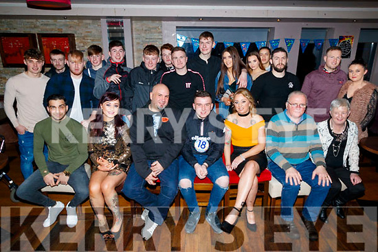 Daniel Aslett, Abbeydorney, who celebrated his 18th birthday with family and friends in the Abbey Inn, Tralee, on Saturday night last.