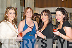 CHEERS: Marie Chawke, Maura Cronin, Tricia Moynihan and Anne Foley, Killarney, at the luncheon in the Killarney Park Hotel on Saturday..