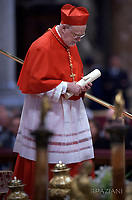 Cardinal Anders Arborelius from Sweden;Pope Francis leads a consistory for the creation of five new cardinals  at St Peter's basilica in Vatican.  from countries  : El Salvador, Laos, Mali,Sweden and Spain.<br /> Cardinal Gregorio Rosa Chavez from Salvador;Cardinal Louis-Marie Ling Mangkhanekhoun from Laos;Cardinal Anders Arborelius from Sweden;Cardinal Jean Zerbo from Mali;Cardinal Juan Jos&eacute; Omella of Spainon June 28, 2017