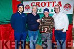 Eoin McGrath (Coiste na Og Sec), Mike Parker (PRO), Sonny Egan and Paul Shanahan at the Crotta O'Neills Juvenile Awards evening in Kilflynn on Friday evening.