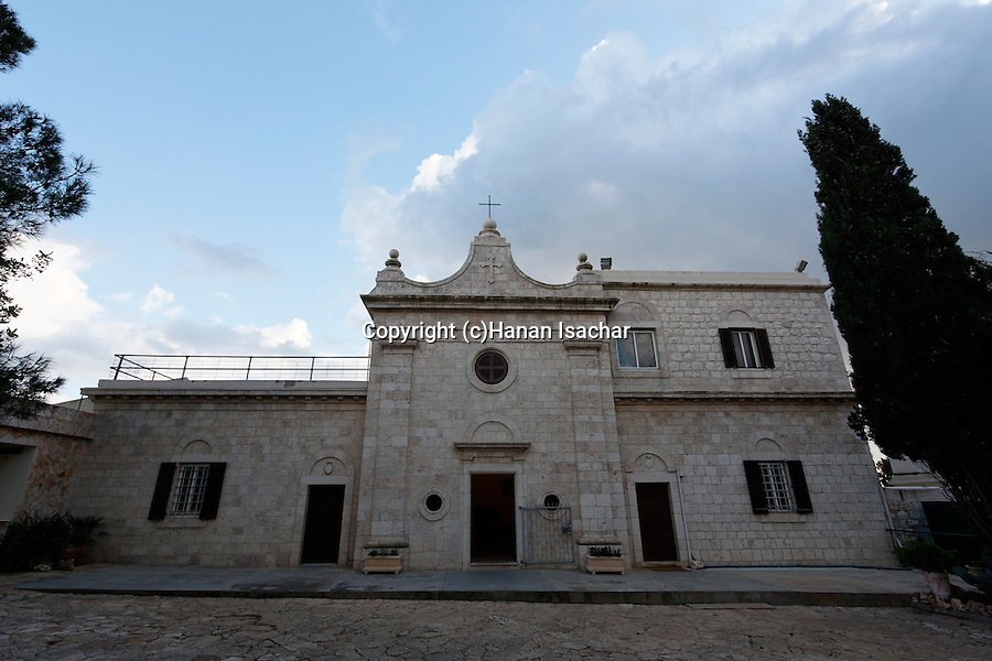 Israel, Mount Carmel. The Carmelite Sanctuary and Convent at the Muhraka