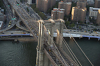NOVA YORK, EUA, 17.09.2018 - CIDADE-NOVA YORK - Vista aerea Brooklyn Bridge da cidade de Nova York nos Estados Unidos (Foto: Vanessa Carvalho/Brazil Photo Press)