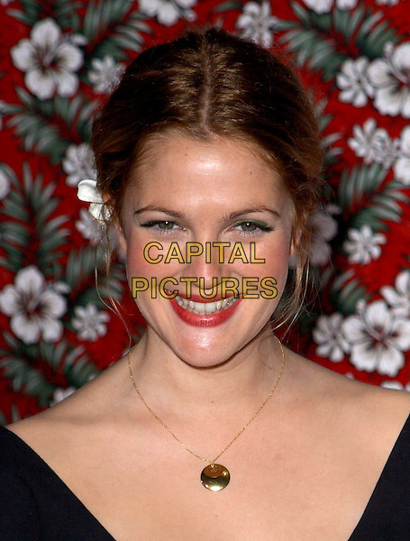 DREW BARRYMORE.Los Angeles Premiere of 50 First Dates held at The Mann Village Theatre in Westwood, California.3 February 2004  .*UK Sales Only*.portrait, headshot, necklace.www.capitalpictures.com.sales@capitalpictures.com.©Capital Pictures.