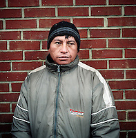 NoVa minutemen confront day laborers in a work pick site .Herndon, Va.12/1/05.photos: Hector Emanuel
