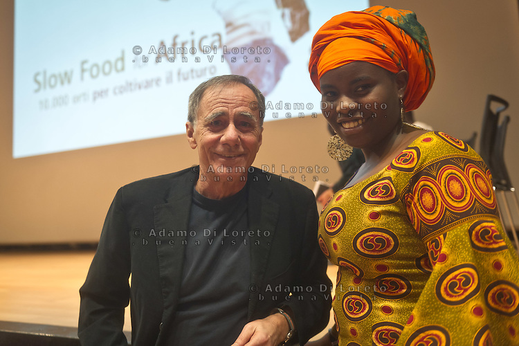 Roberto Vecchioni during the Slow Food Foundation for Biodiversity a thousand gardens in Africa in February 17, 2014. Photo: Adamo Di Loreto/BuenaVista*photo