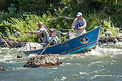 Fishermen & Women floating the Upper Colorado River fishing between Rancho Del Rio and State Bridge on August 24, 2014.