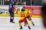 Torjubel nach dem Treffer von Duesseldorfs Ken Andre Olimb (Nr.40) davor Duesseldorfs Calle Ridderwall (Nr.22) links ist Mannheims David Wolf (Nr.89) enttaeuscht beim Spiel in der DEL, Adler Mannheim (blau) - Duesseldorfer EG (gelb).<br /> <br /> Foto © PIX-Sportfotos *** Foto ist honorarpflichtig! *** Auf Anfrage in hoeherer Qualitaet/Aufloesung. Belegexemplar erbeten. Veroeffentlichung ausschliesslich fuer journalistisch-publizistische Zwecke. For editorial use only.