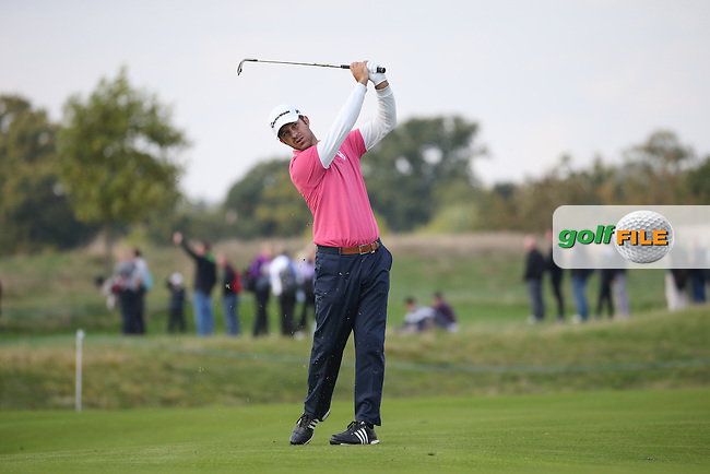Jorge Campillo (ESP) plays to the 10th during Round Three at the The British Masters 2016, at The Grove, Hertfordshire, England. 15/10/2016. Picture: David Lloyd | Golffile.