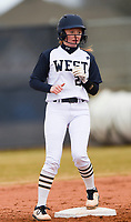 NWA Democrat-Gazette/CHARLIE KAIJO Bentonville West High School Madison Johnson (20) during a softball game, Thursday, March 13, 2019 at Bentonville West High School in Centerton.