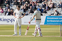 Graham Onions of Lancashire CCC can't quite believe his appeal for caught behind has been turned down during Middlesex CCC vs Lancashire CCC, Specsavers County Championship Division 2 Cricket at Lord's Cricket Ground on 11th April 2019