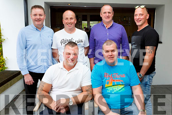 Enjoying the Dairymaster 50th Anniversary BBQ in the Ballygarry Hotel on Sunday.<br /> Seated l-r, Lucas Simposd and Martin Lynch.<br /> Back l-r, Terry O'Connor, Jim Sheehy, Liam Brennan and Mario.