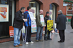 Sinn Féin Protest outside the Tholsel, West Street, Drogheda...(Photo credit should read Jenny Matthews www.newsfile.ie)....This Picture has been sent you under the conditions enclosed by:.Newsfile Ltd..The Studio,.Millmount Abbey,.Drogheda,.Co Meath..Ireland..Tel: +353(0)41-9871240.Fax: +353(0)41-9871260.GSM: +353(0)86-2500958.email: pictures@newsfile.ie.www.newsfile.ie.