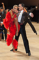 Mirco Risi and Maria Ermatchkova of Italy perform during the Amateur Latin-american competition of the United Kingdom Open Dance Championships held in Bournemouth International Centre, Bournemouth, United Kingdom. Wednesday, 20. January 2010. ATTILA VOLGYI