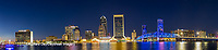 63412-01011 St. Johns River and Jacksonville Florida skyline at twilight Jacksonville, FL
