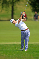 Justin Thomas (USA) on the 1st fairway during Round 4 of the HNA Open De France at Le Golf National in Saint-Quentin-En-Yvelines, Paris, France on Sunday 1st July 2018.<br /> Picture:  Thos Caffrey | Golffile
