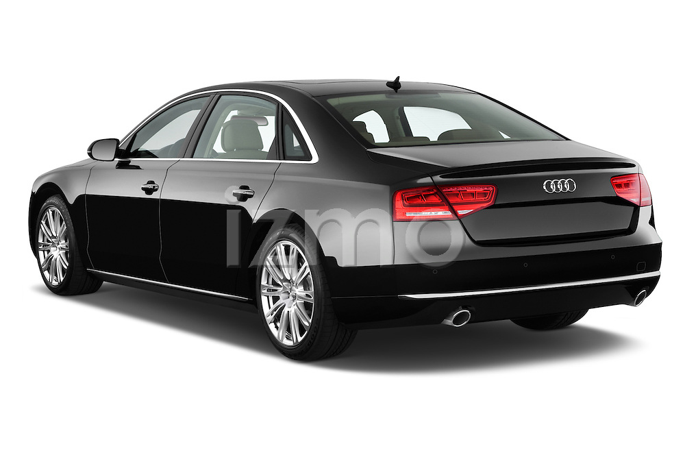 Rear three quarter view of a 2013 Audi A8 L W12 4 Door Sedan 4WD