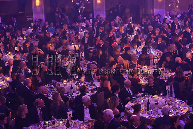 Audience atmosphere onstage during the Roundabout Theatre Company's  50th Anniversary Gala at The Waldorf-Astoria on February 29, 2016 in New York City.