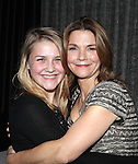 Kathryn Erbe & daughter Maeve Elsbeth Erbe Kinney attending the Opening Celebration for 'Checkers' at the Vineyard Theatre in New York City on 11/11/2012