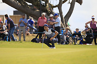 Ross Fisher (ENG) on the 5th green during Round 1 of the Aberdeen Standard Investments Scottish Open 2019 at The Renaissance Club, North Berwick, Scotland on Thursday 11th July 2019.<br /> Picture:  Thos Caffrey / Golffile<br /> <br /> All photos usage must carry mandatory copyright credit (© Golffile | Thos Caffrey)
