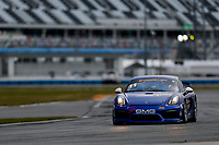 5-8 January, 2017, Daytona Beach, Florida USA<br /> 11, Porsche, Porsche Cayman GT4, GS, Elias Sabo, James Sofronas, Alec Udell, Clark Toppe<br /> &copy;2017, Jake Galstad<br /> LAT Photo USA