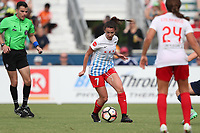 Cary, North Carolina  - Sunday May 21, 2017: Taylor Comeau during a regular season National Women's Soccer League (NWSL) match between the North Carolina Courage and the Chicago Red Stars at Sahlen's Stadium at WakeMed Soccer Park. Chicago won the game 3-1.