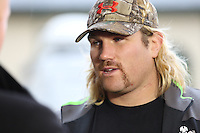 Tuesday 11 November 2014<br /> Pictured: Richard Hibbard<br /> Re: Wales national rugby union player Richard Hibbard talks to the media outside the Vale Resort Hotel in Hensol, Mid Glamorgan, Wales, United Kingdom on November 11, 2014, ahead of a rugby match against the Fiji national rugby team on November 15 at the Millennium Stadium.