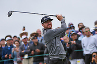 Jimmy Walker (USA) hits a provisional tee shot on 9 during round 1 of the 2019 US Open, Pebble Beach Golf Links, Monterrey, California, USA. 6/13/2019.<br /> Picture: Golffile | Ken Murray<br /> <br /> All photo usage must carry mandatory copyright credit (© Golffile | Ken Murray)