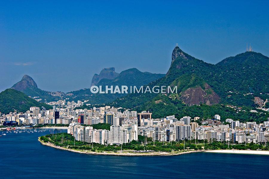 Vista aérea do Cristo Redentor. Rio de Janeiro. 2006. Foto de Rogério Reis.
