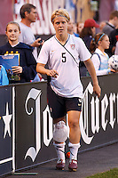 22 MAY 2010:  USA's Lori Lindsey #5 with ice on her knee after the International Friendly soccer match between Germany WNT vs USA WNT at Cleveland Browns Stadium in Cleveland, Ohio on May 22, 2010.