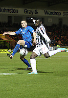 Esmael Goncalves shoots to score in the St Mirren v Inverness Caledonian Thistle Clydesdale Bank Scottish Premier League match played at St Mirren Park, Paisley on 30.1.13.