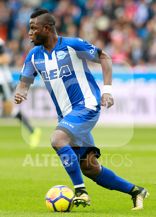 Deportivo Alaves' Wakaso Mubarak during La Liga match. October 28,2017. (ALTERPHOTOS/Acero)
