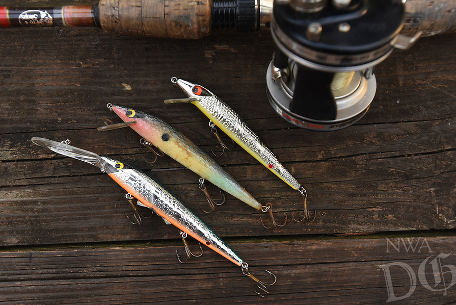 NWA Democrat-Gazette/FLIP PUTTHOFF <br /> Jerk baits like the Smithwick Rogue, shown here, are     Jan. 9 2019    a good choice for winter bass fishing.