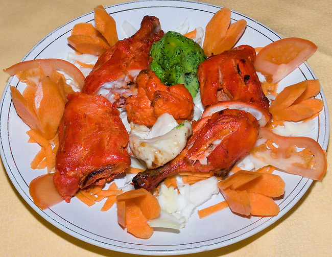 Tandoori Chicken, Ashoka Restaurant, Florence, Tuscany, Italy