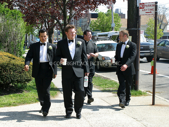 WWW.ACEPIXS.COM . . . . .***EXCLUSIVE!!! FEE MUST BE NEGOTIATED BEFORE USE!!!***....NEW YORK, MAY 10, 2005....John Leguizamo, Donal Logue and Jay Mohr on the set of the new Ed Burns film 'The Groomsmen.'....Please byline: PAUL CUNNINGHAM - ACE PICTURES..... *** ***..Ace Pictures, Inc:  ..Craig Ashby (212) 243-8787..e-mail: picturedesk@acepixs.com..web: http://www.acepixs.com