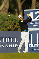 Florian Fritsch (GER) on the 12th tee during Round 3 of the 2015 Alfred Dunhill Links Championship at Kingsbarns in Scotland on 3/10/15.<br /> Picture: Thos Caffrey | Golffile