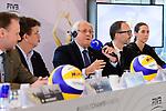 24.01.2018, Hamburg, Penthouse Elb-Panorama / Atlantic Haus<br />Beachvolleyball, Pressekonferenz FIVB World Championships / Weltmeisterschaft<br /><br />Andy Grothe (Innensenator Hamburg), Hannes Jagerhofer (CEO Beach Majors Company), Dr. Ary Graca (PrŠsident / Praesident Volleyball Weltverband FIVB), Thomas Krone (PrŠsident / Praesident Deutscher Volleyball Verband DVV), Kira Walkenhorst (Nationalspielerin)<br /><br />  Foto © nordphoto / Kurth