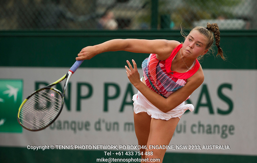 EMILY APPLETON (GBR), JUNIOR<br /> <br /> TENNIS - FRENCH OPEN - ROLAND GARROS - ATP - WTA - ITF - GRAND SLAM - CHAMPIONSHIPS - PARIS - FRANCE - 2016  <br /> <br /> <br /> <br /> &copy; TENNIS PHOTO NETWORK