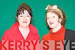 ENJOYING: Bernadette O'Callaghan, Blennerville and Julie Shannhan, Kilflynn enjoying a great time at the Coiste Tra? Li? Scor at Strand Road clubhouse on Thursday.
