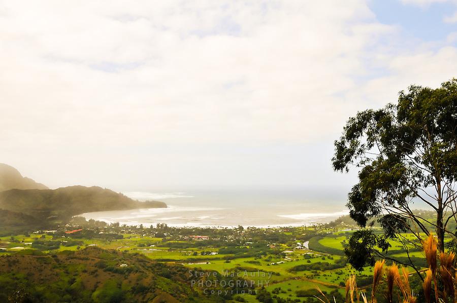 Scenic view of Hanalei Bay, Kauai