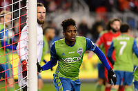 Toronto, ON, Canada - Saturday Dec. 10, 2016: Tyrone Mears during the MLS Cup finals at BMO Field. The Seattle Sounders FC defeated Toronto FC on penalty kicks after playing a scoreless game.