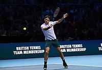 ROGER FEDERER (SUI)<br /> <br /> TENNIS - NITTO ATP FINALS - 02 ARENA, LONDON, UNITED KINGDOM, 2017  <br /> <br /> <br /> <br /> &copy; TENNIS PHOTO NETWORK